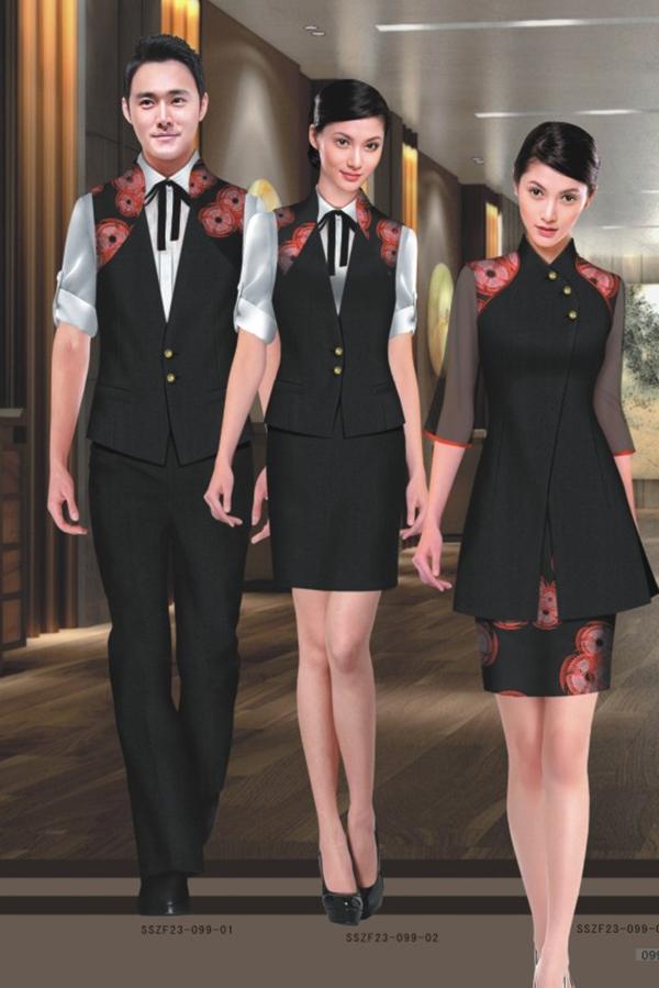 中式风格酒店服装